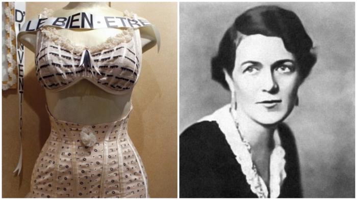 Мадам Кадоль «освободила женщин, изобретя первый бюстгальтер» (1889 год).