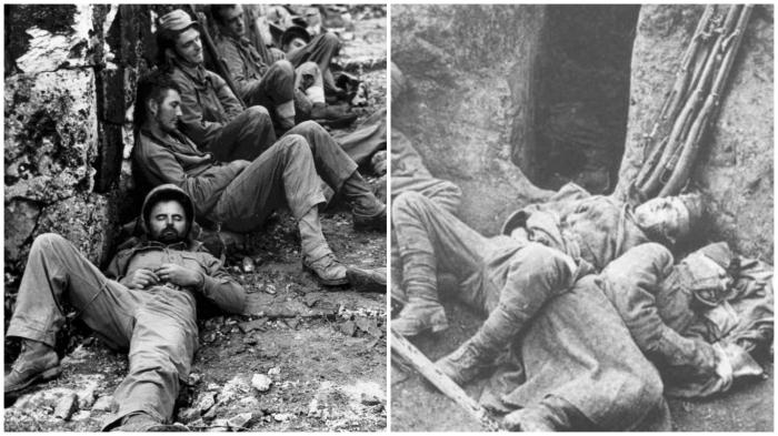 На войне как на войне: спали при любой погоде…