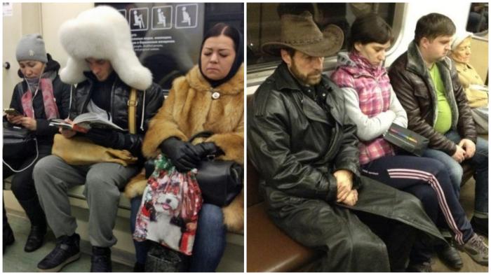 Закон физики: зимой в транспорте возле мужчин всегда теплее.