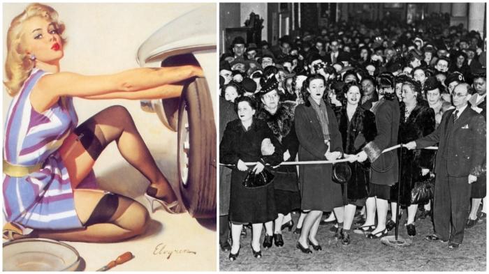 Реклама нейлоновых чулок в США была эффективной: толпы женщин атаковали магазины.