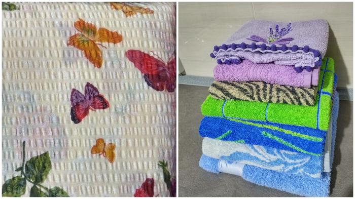 Бельё-«жатка» и немаркие полотенца сохранят время и нервы хозяйке.