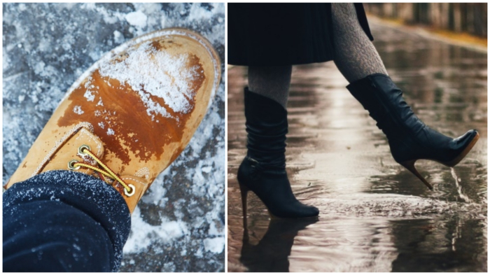 Кожаная обувь промокает? Значит, это действительно натуральная кожа!