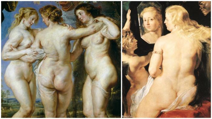 Попы рубенсовских женщин – эталон Нового времени.