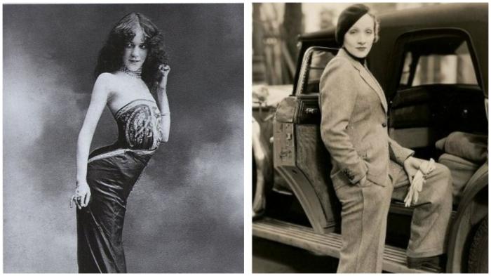 В начале 20 века «ягодичная мода» раскололась на два лагеря…