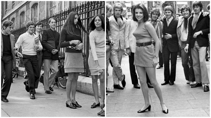 В 1960-х девушка в мини могла остановить движение на улицах города...