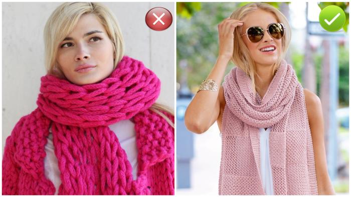 Удачно подобранный шарф - гарант элегантного образа.