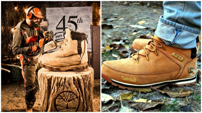 Жёлтая «обувь лесорубов» хороша для любой погоды.