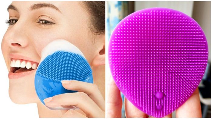 Силиконовая щёточка для лица: очищение + массаж.