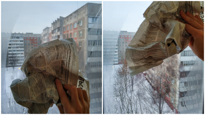 Любая советская хозяйка знала: газета – лучшее средство от разводов на стекле!