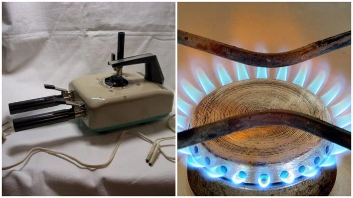 Если электроплойка ломалась, спасала положение газовая плита.