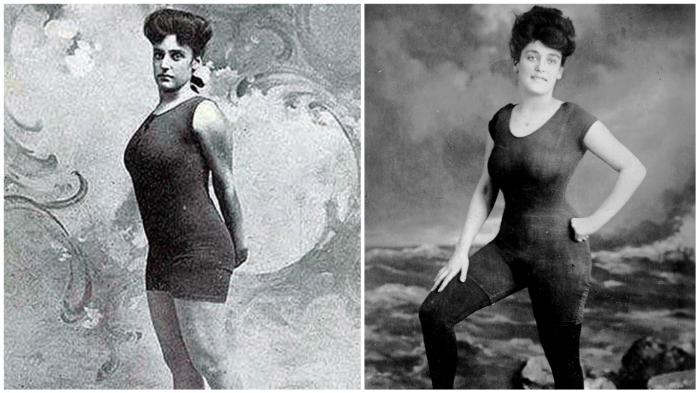 Неслыханная дерзость от Аннет Келлерман: «супероткровенный» купальник (1907 год).