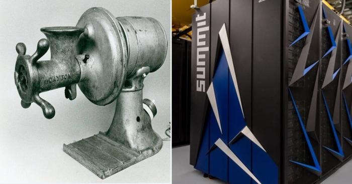 Эволюция продуктов компании IBM: от мясорубок до суперкомпьютеров.
