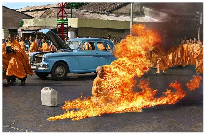 Самосожжение буддийского монаха.