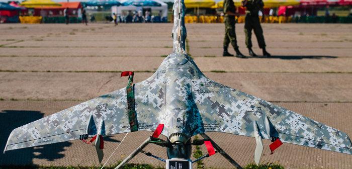 Беспилотник в расцветке. | Фото: Fakti.org.