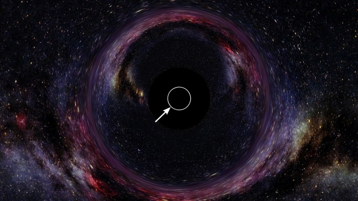 Центр черной дыры.