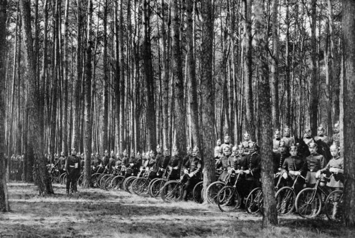 Велосипедные войска Первой мировой.