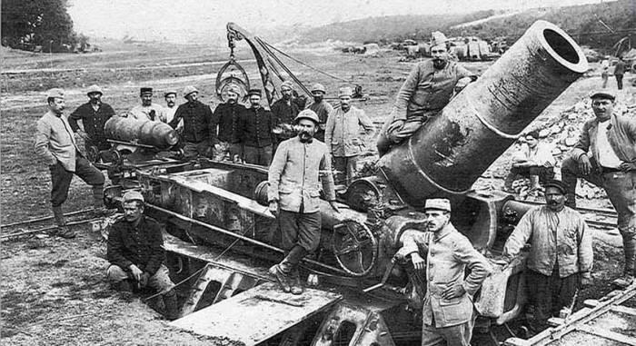 370-мм мортира «Филло»| Фото: Большая военная энциклопедия.