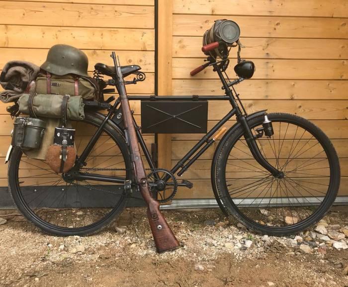 Военный велосипед Вермахта.