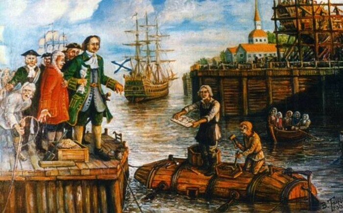 Испытания субмарины| Фото: Википедия.
