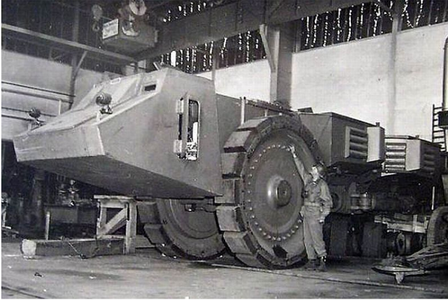 Противоминный танк.