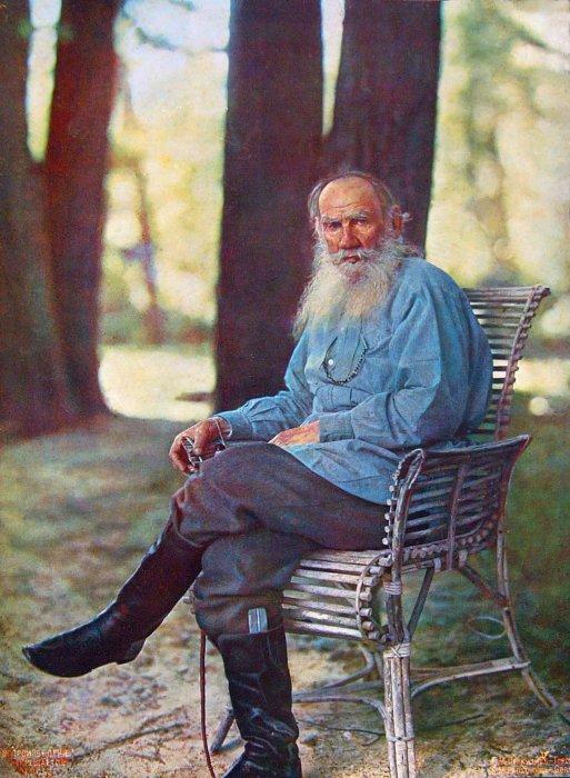 Единственная цветная фотография Льва Николаевича Толстого| Фото: Lurkmore.