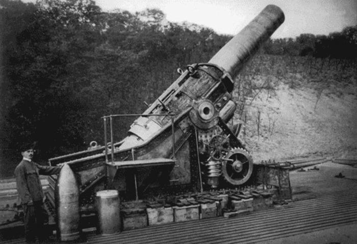 Тяжелая 420-мм гаубица «Шкода»| Фото: История государства Габсбургов.