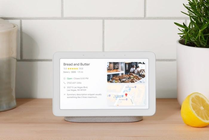 Центр управления умным домом Google Home Hub.