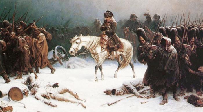 Отступление Наполеона. | Фото: Википедия.