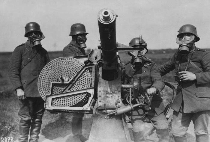 Немцы в противогазах, июль 1915 года| Фото: popmech.ru