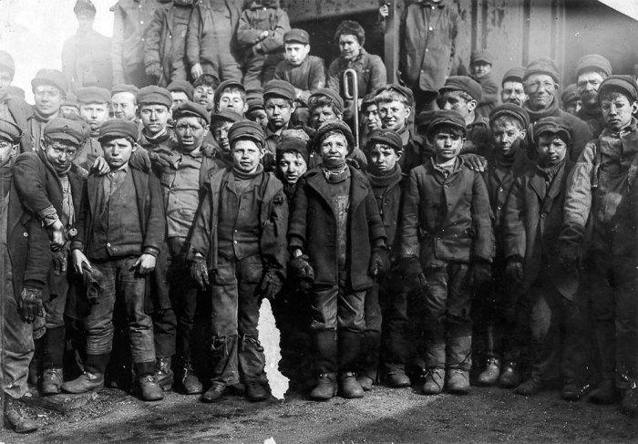 Дети шахтеры в США.