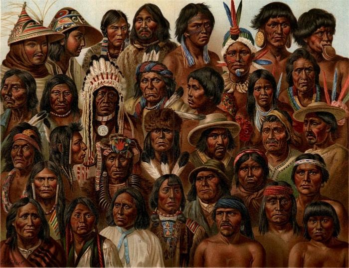 Прозвище «краснокожие» индейцы получили из-за цвета кожи. | Фото: LiveJournal.