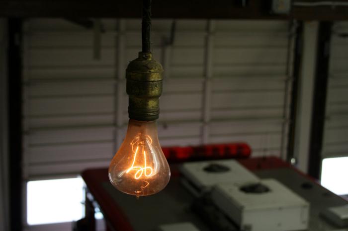 Столетняя лампа.