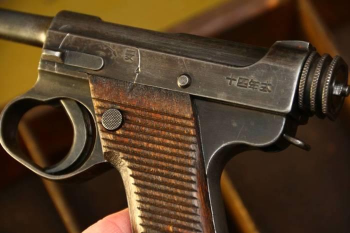 Пистолет «Намбу» Тип-14 времен Второй мировой войны.