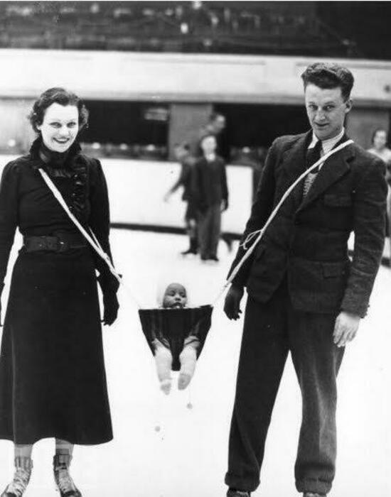 Люлька для ношения ребенка на льду. | Фото: LiveJournal.