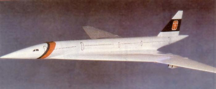 Макет Ту-244. | Фото: Википедия.