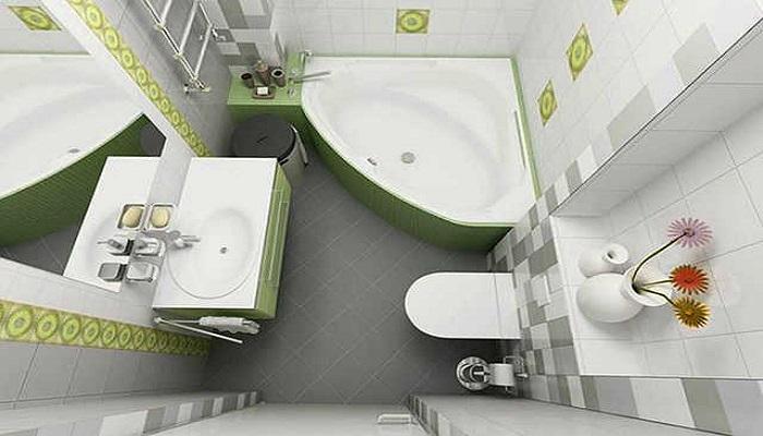 Как увеличить ванную комнату. / Фото: magicflat.net