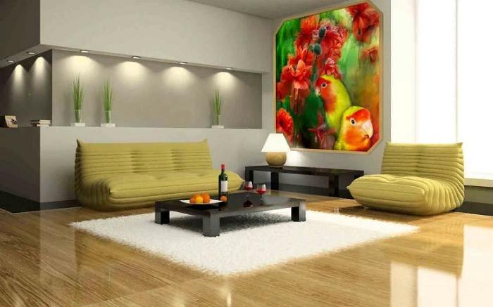 Мебель вдоль стен можно расставлять только, если у вас малогабаритная квартира. / Фото: stroiconsultant.ru
