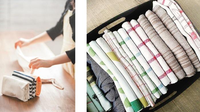 Сложенное постельное белье можно разместить как в шкафу, так и в коробках. /Фото: stroy-podskazka.ru