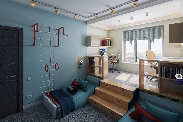 Деление комнаты на зоны повышает степень удобства. / Фото: avatars.mds
