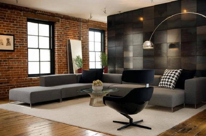 Металл характерен для таких стилей, как лофт, хай-тек, минимализм, индустриальный. / Фото: dekorin.me