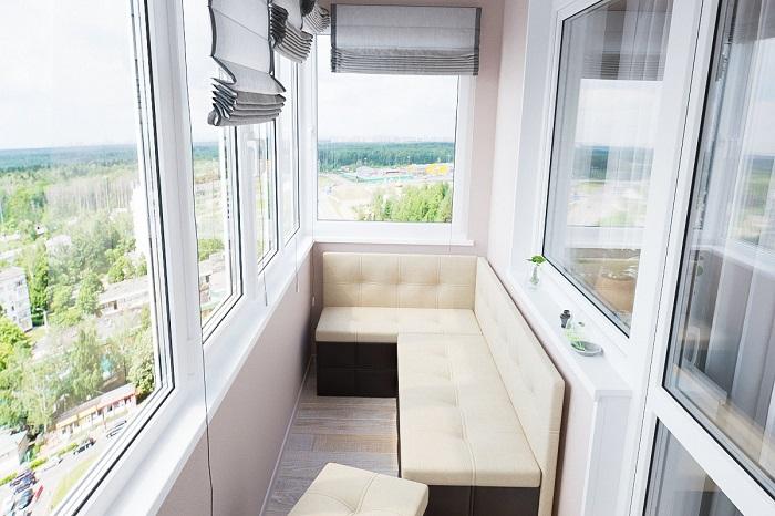 Угловой диван с местом для хранения вещей. / Фото: goodster.ru