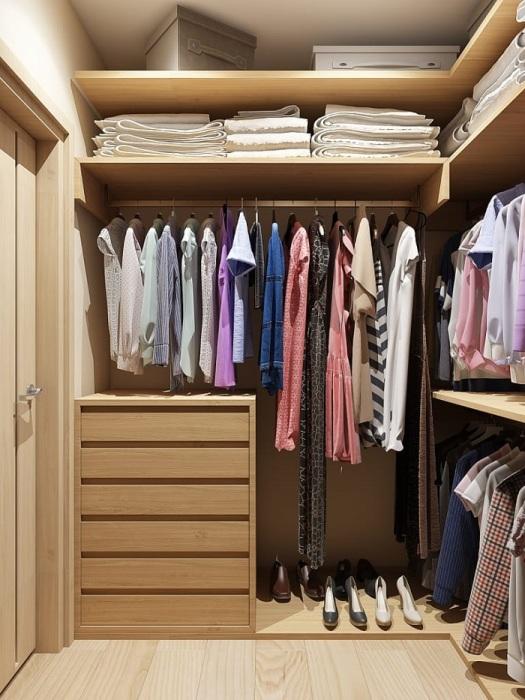 Гардеробная является лучшим решением для хранения вещей. / Фото: homify.ru