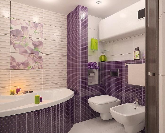 Из плитки можно сделать красивый, яркий акцент. / Фото:ikeacover.ru