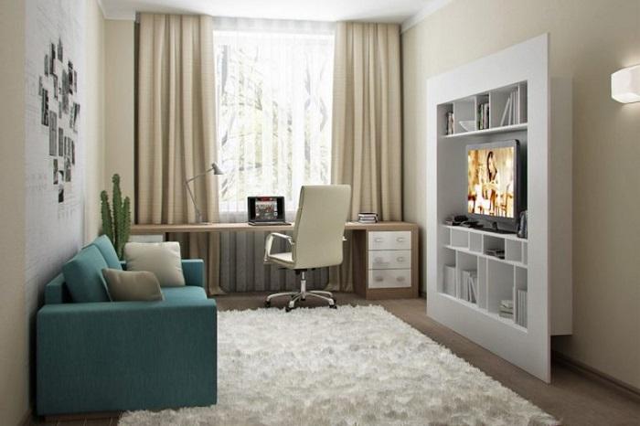 В небольшой комнате должна присутствовать только самая нужная мебель. /Фото: ileds.ru