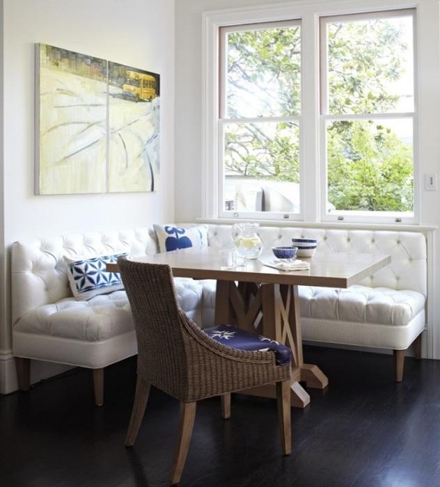 Качественный кухонный уголок станет изюминкой вашей комнаты. / Фото: mydizajn.ru
