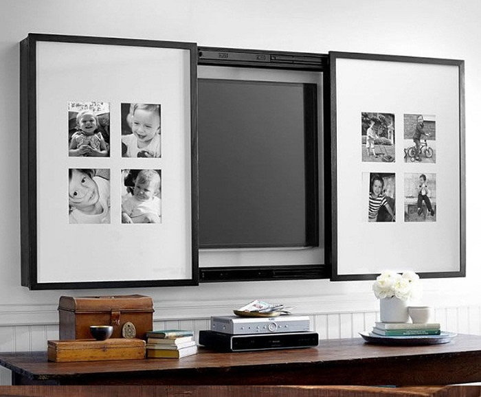 Две части картины закроют телевизор, когда он будет не нужен хозяевам и гостям квартиры. / Фото: osleep.ru