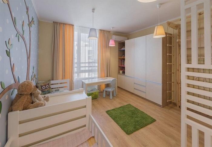 Детская комната, оформленная в пастельных оттенках. /Фото: vsaunu777.ru