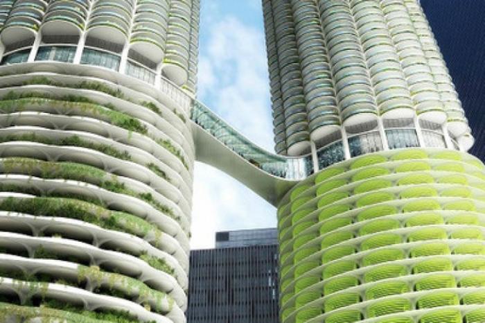 Концепт небоскреба в Шанхае. | Фото: bagnet.org