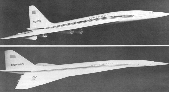 Ту-244 более четверти века не может выйти за рамки макета. /Фото: fishki.net
