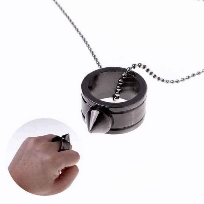 Различные варианты ношения кольца для самообороны. /Фото: ozali.ru